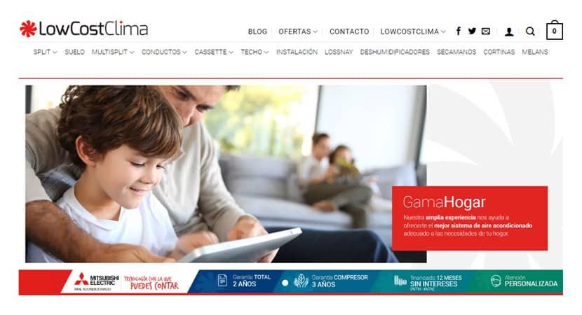 LowCostClima estrena nuevo diseño de la tienda online