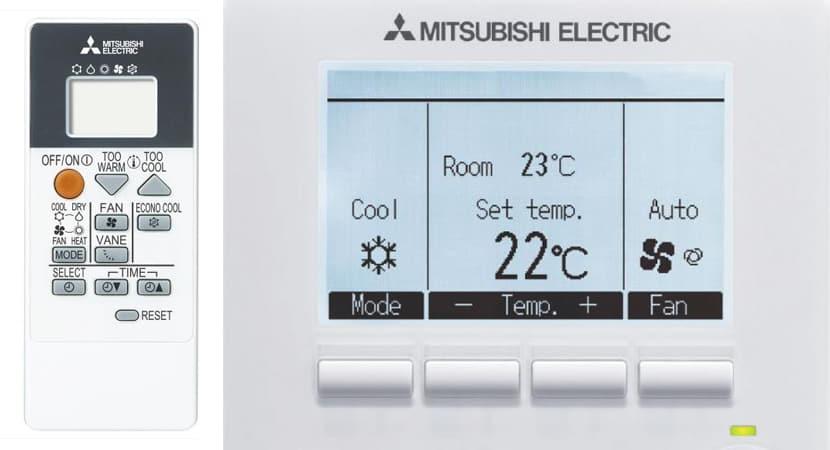 Mando aire acondicionado mitsubishi
