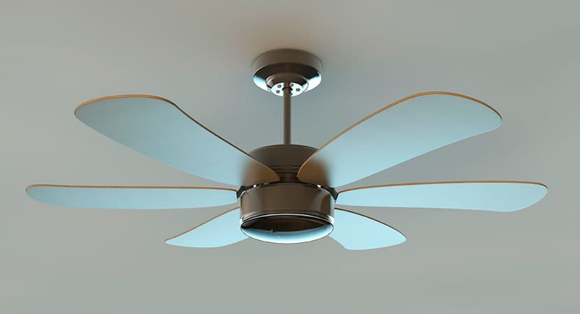 ¿Un aire acondicionado gasta mucho más que un ventilador de techo?